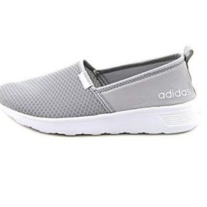 Adidas Gray Women's Lite Racer Slip-on Sneakers